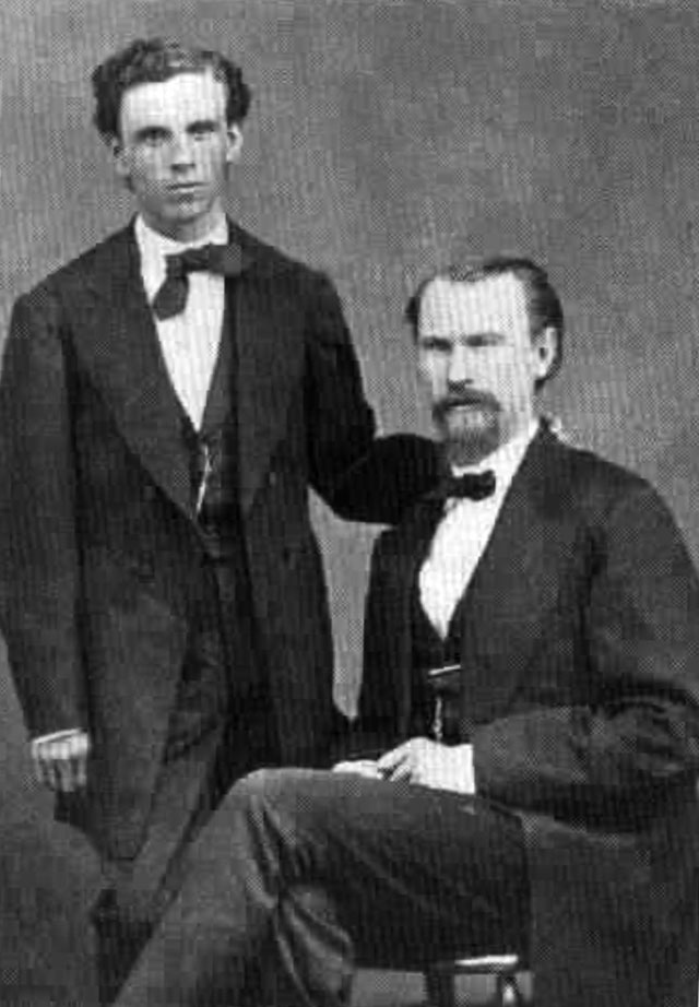 Л.Дж. Мерфи (сидит) и Дж. Дж. Долан – лидеры ирландской группировки