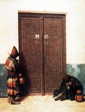 КАРТИНА: Верещагин В.В. У дверей мечети (1873)