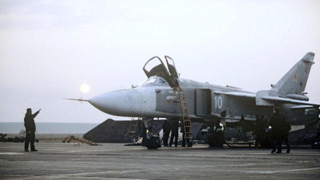 Бомбардировщик Су-24 разбился в Челябинской области.