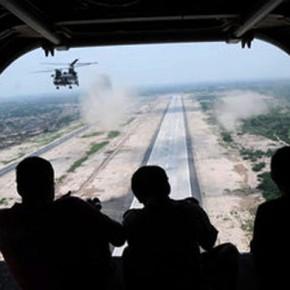 Новости 18.11.2012: Вертолеты ООН ведут огонь по позициям боевиков в Демократической Республике Конго.