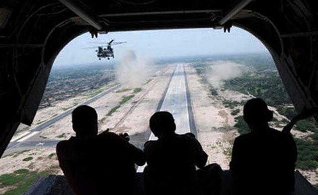 Вертолеты ООН ведут огонь по позициям боевиков в Демократической Республике Конго.