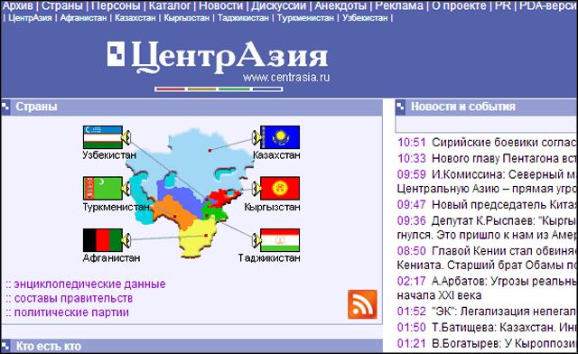 Сайт ЦентрАзия