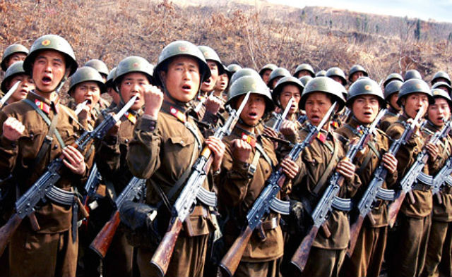 На западе КНДР идет подготовка к военным учениям