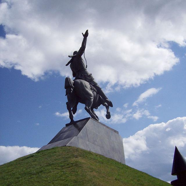 Памятник Салавату Юлаеву в Уфе. 2008 г.