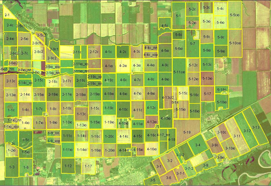 Пример классификации полей: Исходная сетка полей