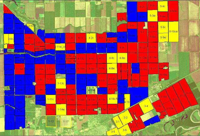 Пример классификации полей: Группировка полей по степени пригодности для возделывания сои для «сухого» года