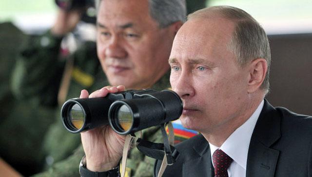 Путин ознакомился с ходом военных учений в Восточном военном округе