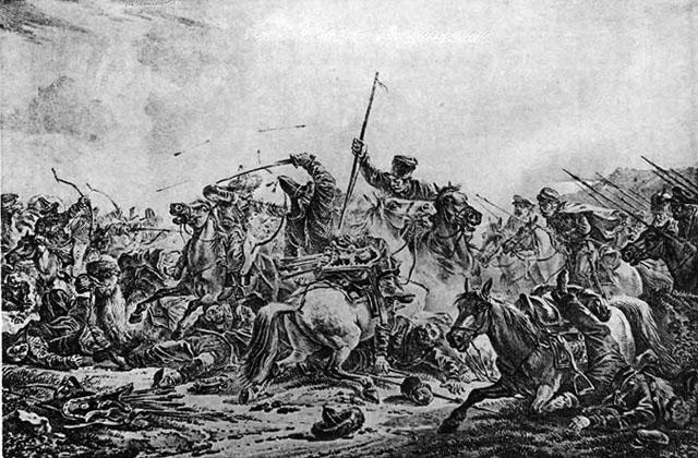 Бой казаков с киргизами, 1916 г.