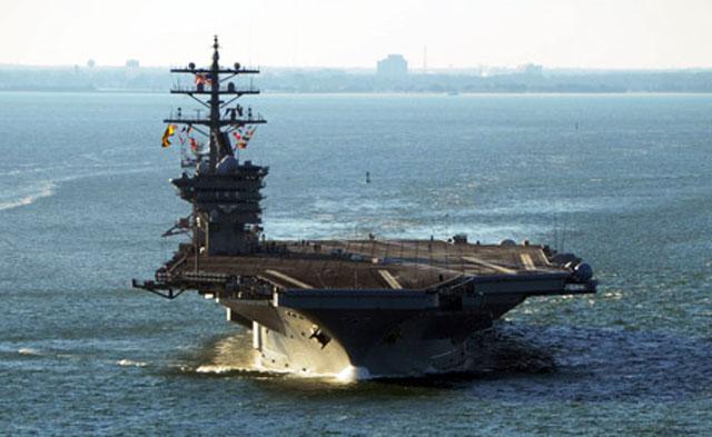 """Атомный авианосец """"Нимиц"""" в составе ударной группы кораблей ВМС США выдвинулся в Красное море"""