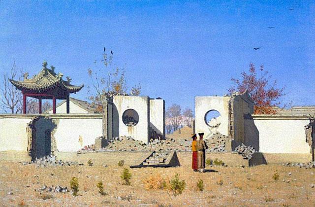 КАРТИНА: Верещагин В.В. Развалины китайской кумирни (1869-1870)
