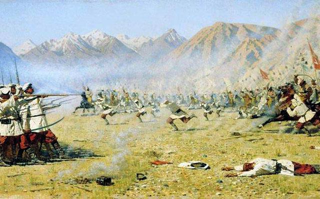 КАРТИНА: Верещагин В.В. Нападают врасплох(1871).