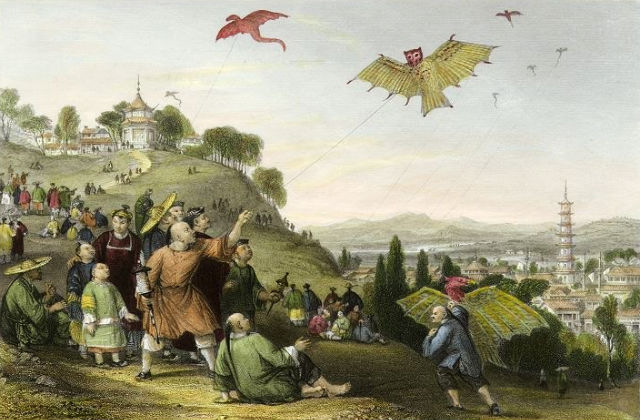 Kite-flying at Hae-kwan, on the Ninth Day of Ninth Moon