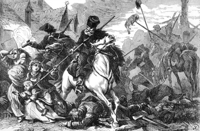 Так поляки ошибочно представляют освобождение 24.10.1794 казаками Суворова  еврейского предместья Варшавы – Праги