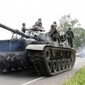 Новости 06.01.2014. Командование армии Таиланда объявило о планах переброски танков в столицу