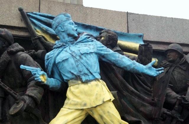 Новости 25.02.2014. МИД РФ возмущен размещением фото оскверненного памятника в Софии на странице Euronews