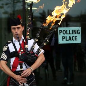 Новости 18.089.2014. По данным опроса, противники независимости в Шотландии опережают ее сторонников на 6%