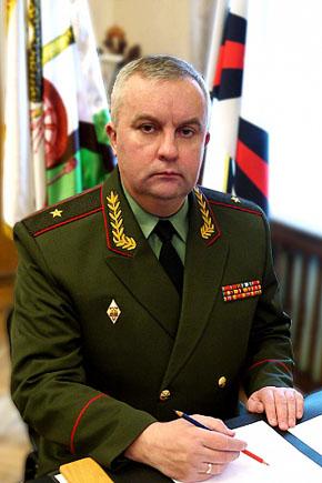 Начальник ракетных войск и артиллерии Сухопутных войск РФ генерал-майора Михаил Михайлович Матвеевский