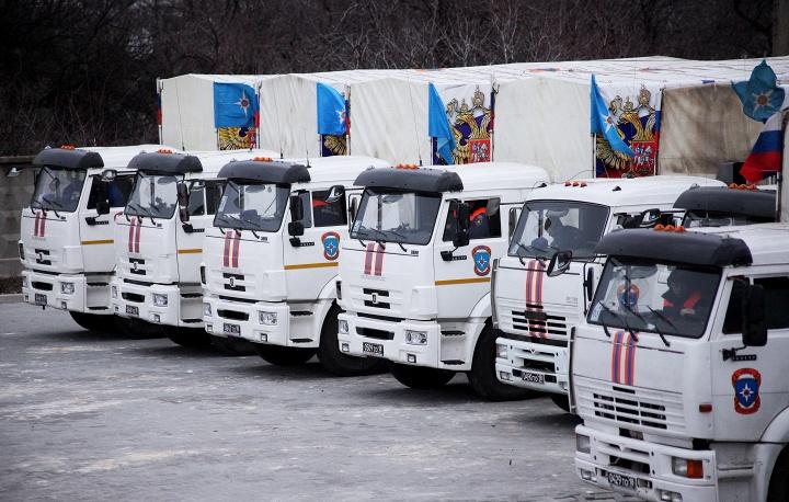Новости 08.02.2015. Российская гуманитарная помощь прибыла в Луганск и Донецк