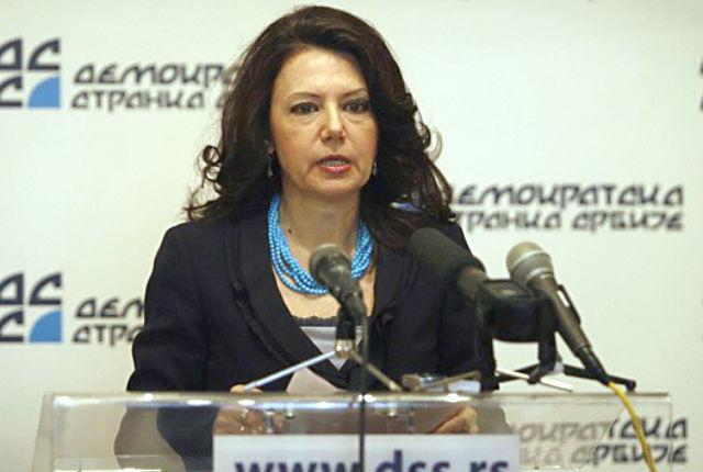 Президент Демократической партии Сербии Санда Рашкович-Ивич