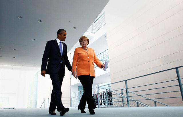 Новости 10.03.2015. Меркель убедила Обаму не поставлять оружие украинским военным