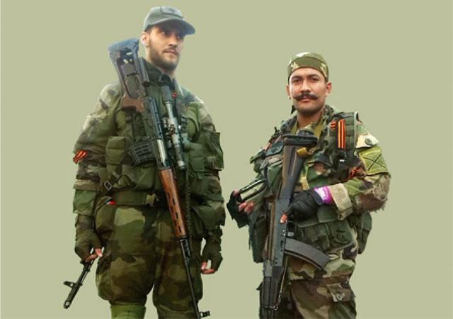 Участники интернациональной антиглобалистской организации Unité Continentale Виктор-Альфонсо Лента (на фото справа) и Никола Перович (на фото слева)
