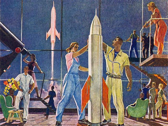 А. Дейнека. «Покорители космоса» (1961)