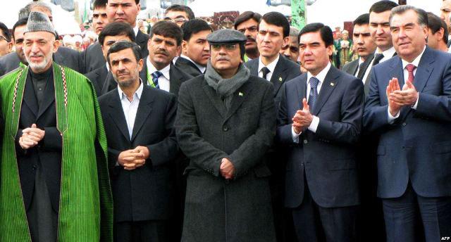 Хамид Карзай, Махмуд Ахмадинежад, Асиф Али Зардари, Гурбангулы Бердымухамедов и Эмомали Рахмон: