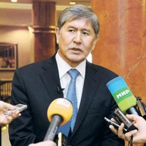Алмазбек Атамбаев уверен в необходимости китайской дороги. Фото с официального сайта президента Киргизии