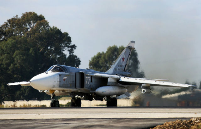 Новости 24.11.2015. Минобороны РФ: российский Су-24 сбили при возвращении на авиабазу в Сирии
