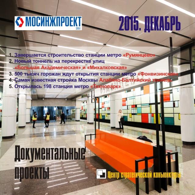 Документальные проекты «МосИнжПроекта» и Центра СК. Декабрь 2015