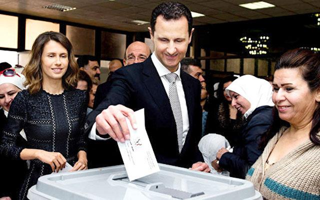 Новости 13.04.2016. Асад с супругой проголосовали на парламентских выборах в Сирии