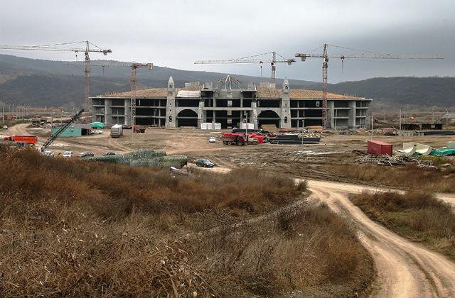 Строящееся главное здание Международного центра сил специального назначения // Валерий Шарифулин / ТАСС