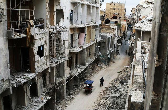 Война в Сирии началась весной 2011 года. За время конфликта более 5 млн человек стали беженцами. Наиболее ожесточенные бои развернулись вокруг Алеппо // Reuters/Pixstream