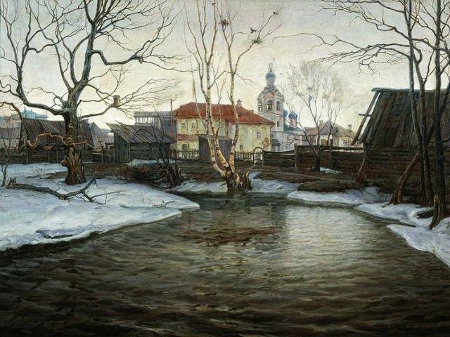КАРТИНА. Винокуров Павел. Вешние воды. Начало 1900-х.