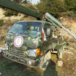 СИРИЯ. Ракетная установка сирийской милиции Соко Сохра (Соколы пустыни)