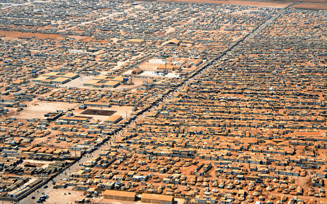 ФОТО: Лагерь беженцев в Заатари // Википедия