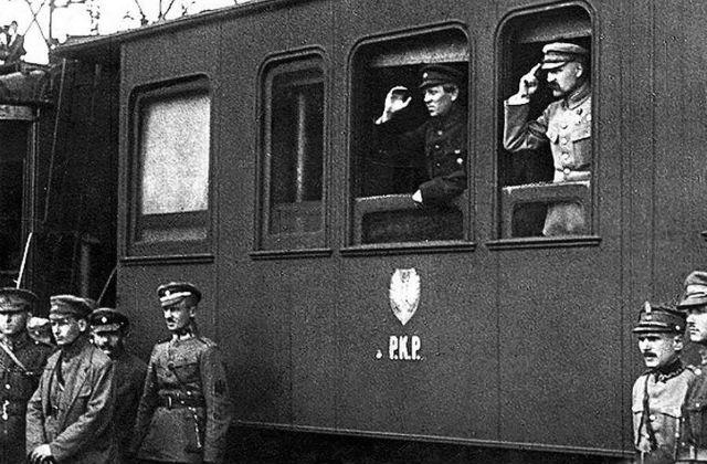 Ю. Пилсудский и С. Петлюра. Винница, 1920 г.