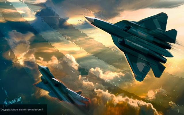 """ИА «Народные новости». Запуск истребителя Су-57 в серию эксперт назвал """"важным технологическим шагом"""""""