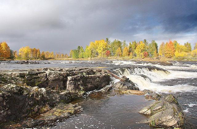 Беломорск. Река Выг в городе Беломорск