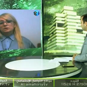 Libyan Aljamahiriy TV. Dragana Trifkovic. 31.03.2020
