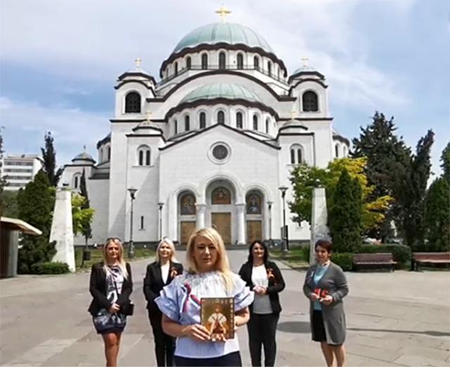 Драгана Трифкович. Сербия поздравляет Россию с 75-летием Великой Победы
