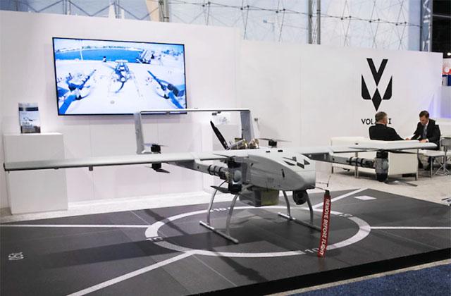БЛА серии VOLY-20 компании Volansi на ежегодном форуме Sea-Air-Space Exposition, Нэшнл Харбор, Мэриленд, США, 3 августа 2021 г.